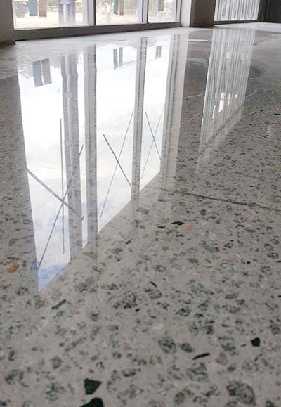mechanically polished concrete